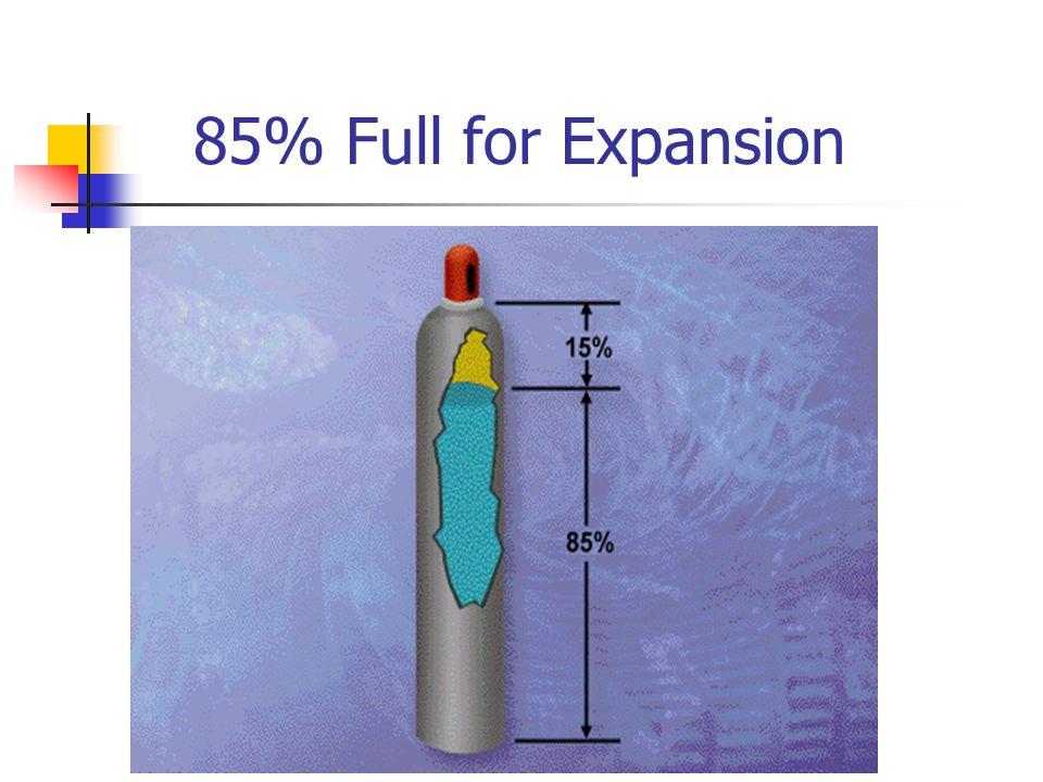 85% Full for Expansion