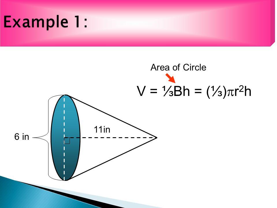 Ex.2: Volume of a Composite Figure 8cm 10cm 4cm Volume of Cone first.