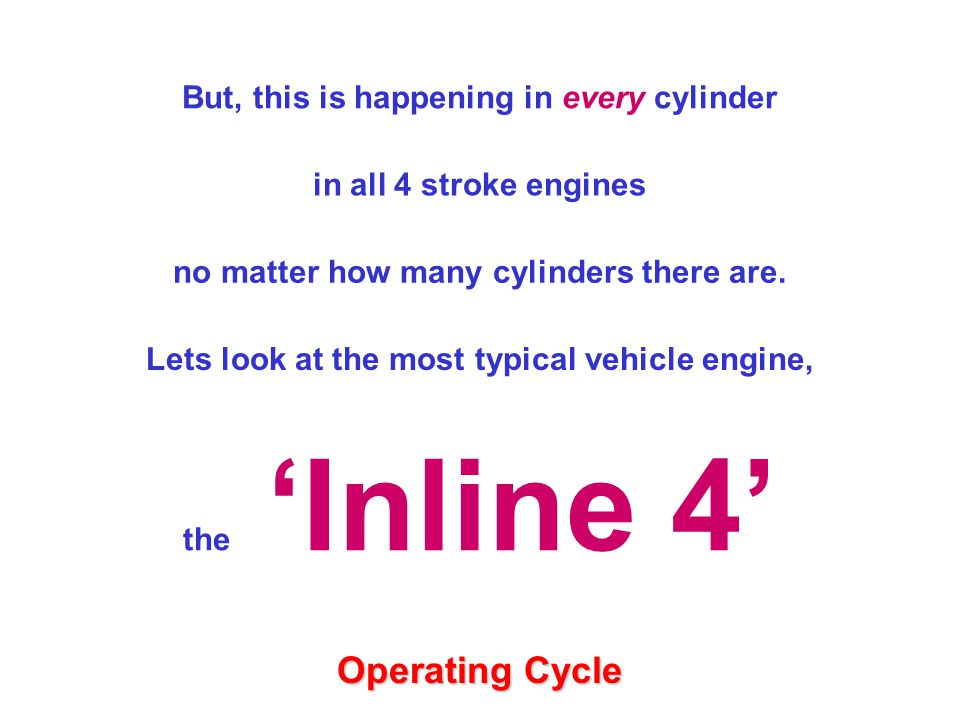 in all 4 stroke engines no matter how many cylinders there are.