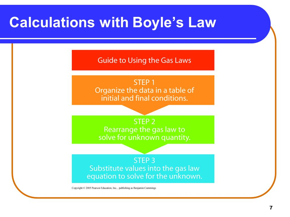 7 Calculations with Boyle's Law