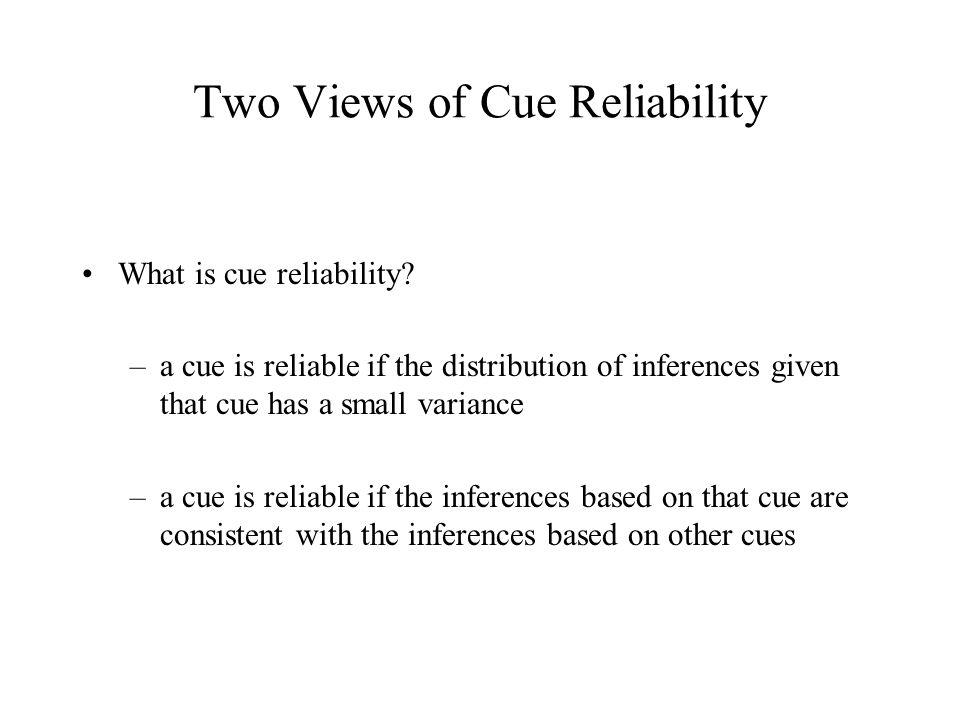 Visual Cues are Ambiguous Inverse optics problem Cue ambiguity