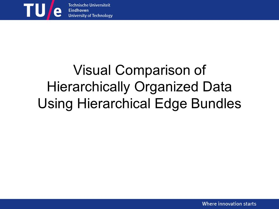 Visual Comparison of Hierarchically Organized Data Using Hierarchical Edge Bundles