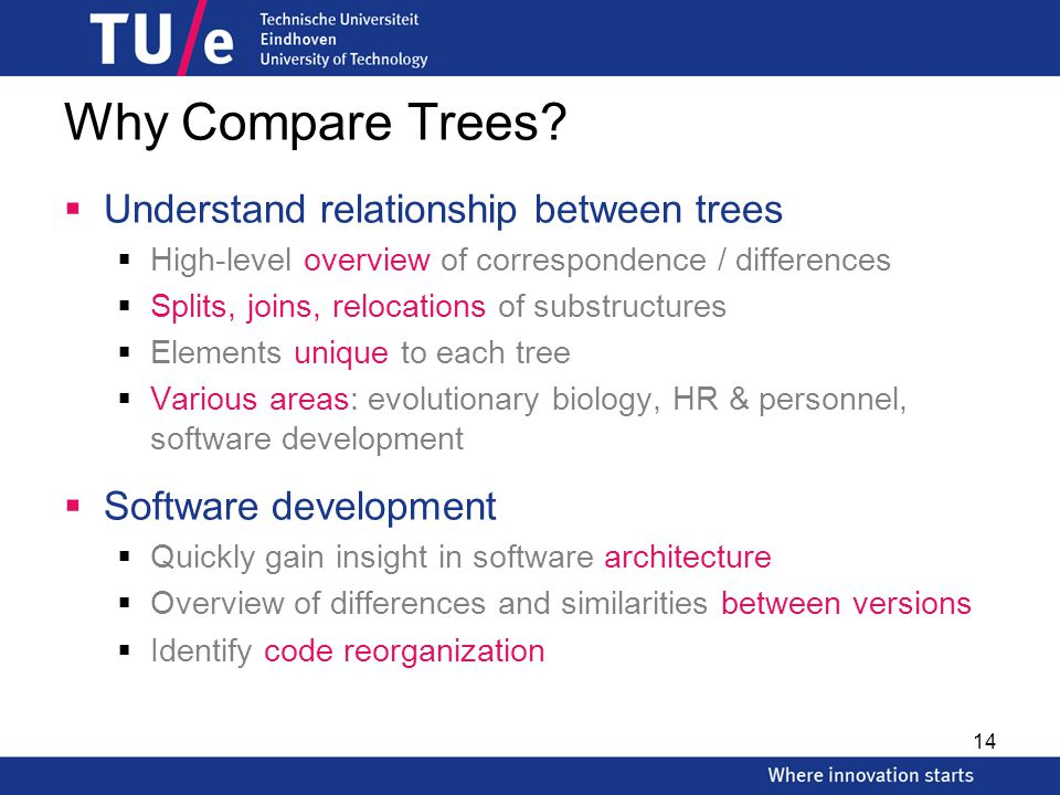 Why Compare Trees.
