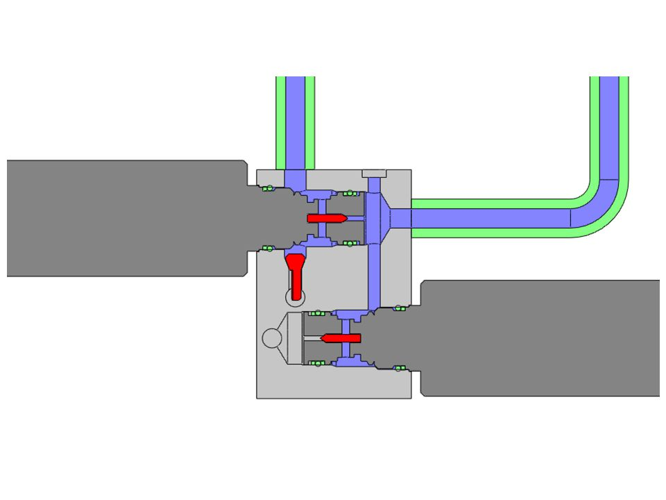 The blue areas indicate resting fluid while the room is extended.