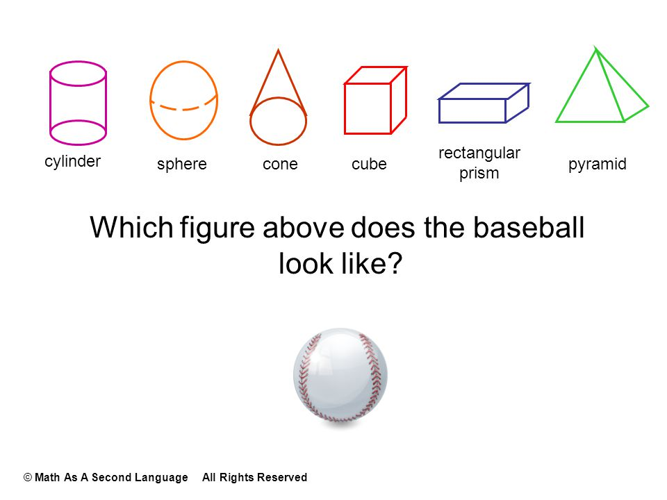 Which figure above does the baseball look like.