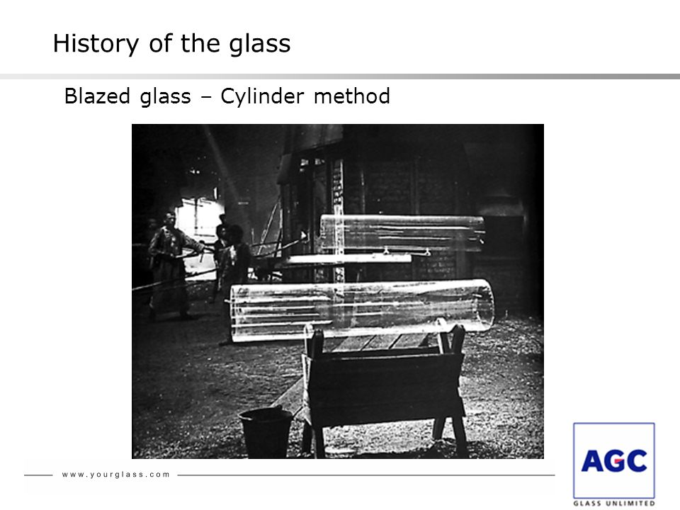 History of the glass Blazed glass – Cylinder method