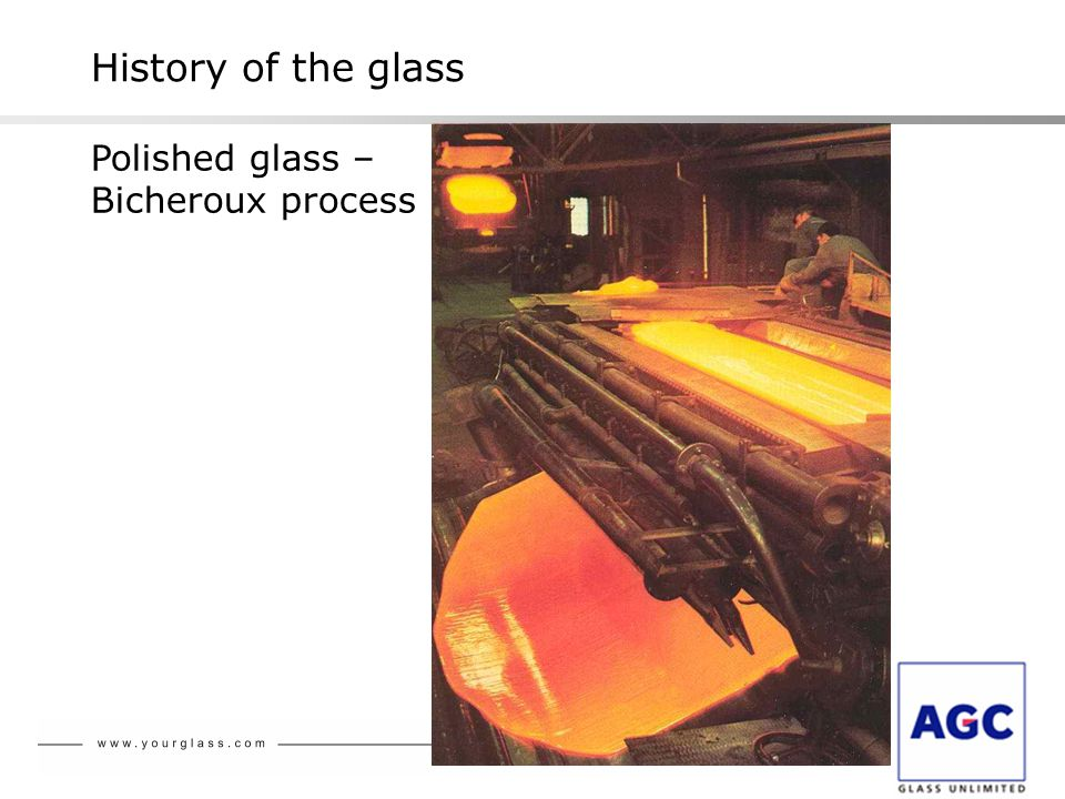 History of the glass Polished glass – Bicheroux process