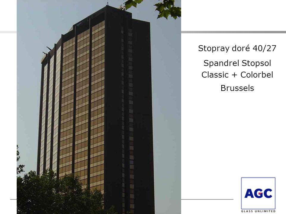 Stopray doré 40/27 Spandrel Stopsol Classic + Colorbel Brussels