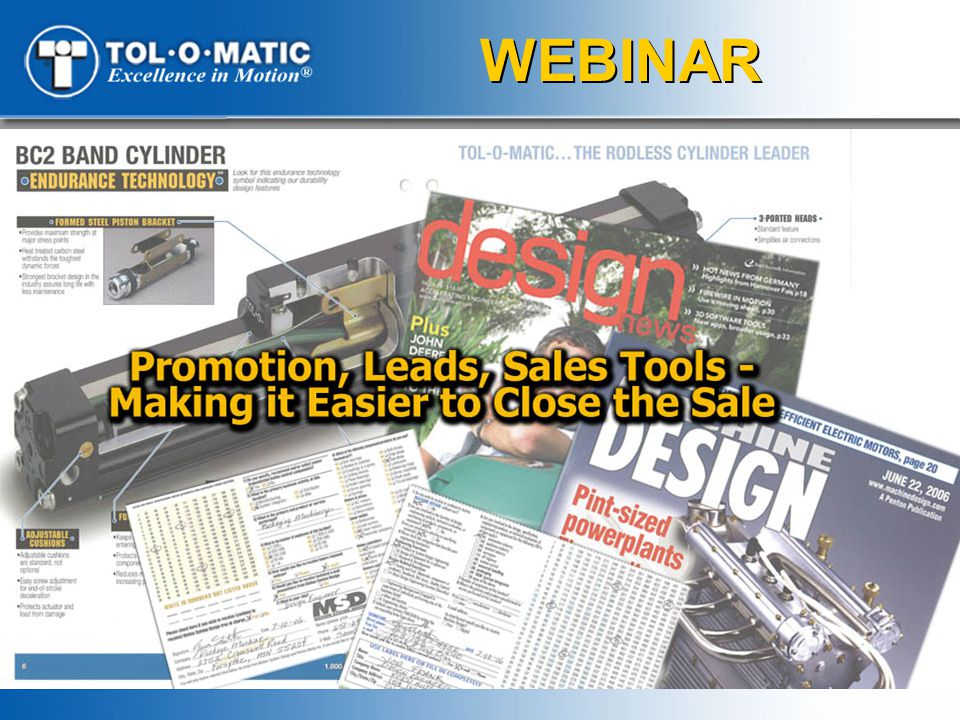 Promoting Tol-O-Matic Products √Web advertising to match target focus
