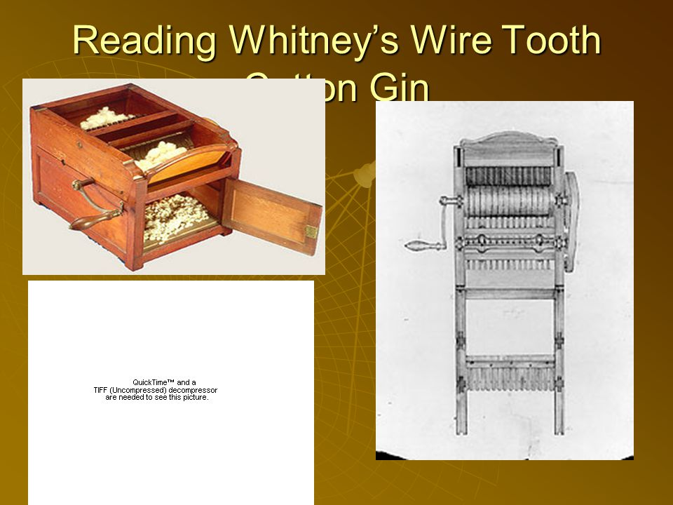 Reading Whitney's Wire Tooth Cotton Gin