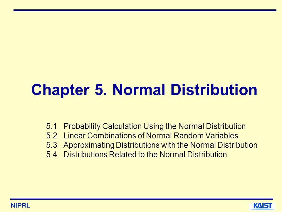 NIPRL Chapter 5.