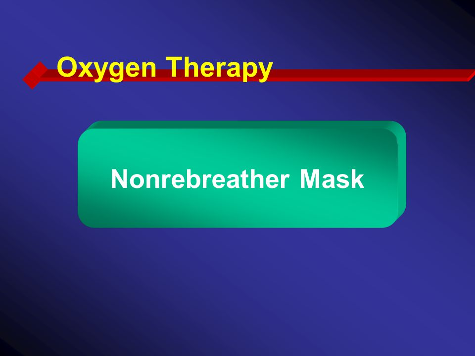 Oxygen Therapy Nonrebreather Mask