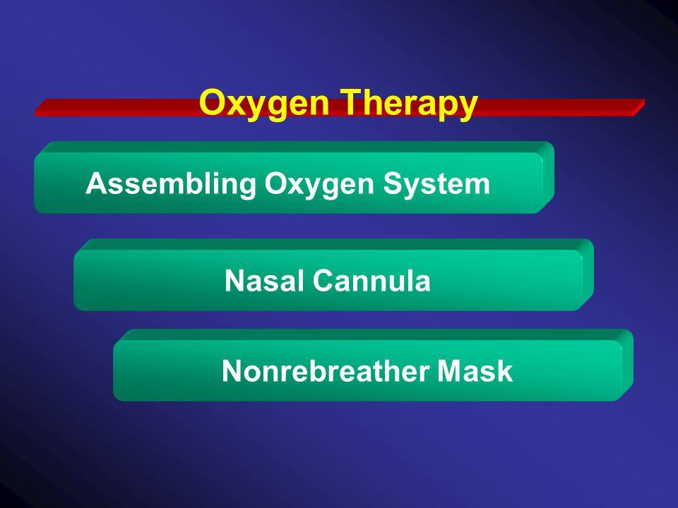 Oxygen Therapy Assembling Oxygen System