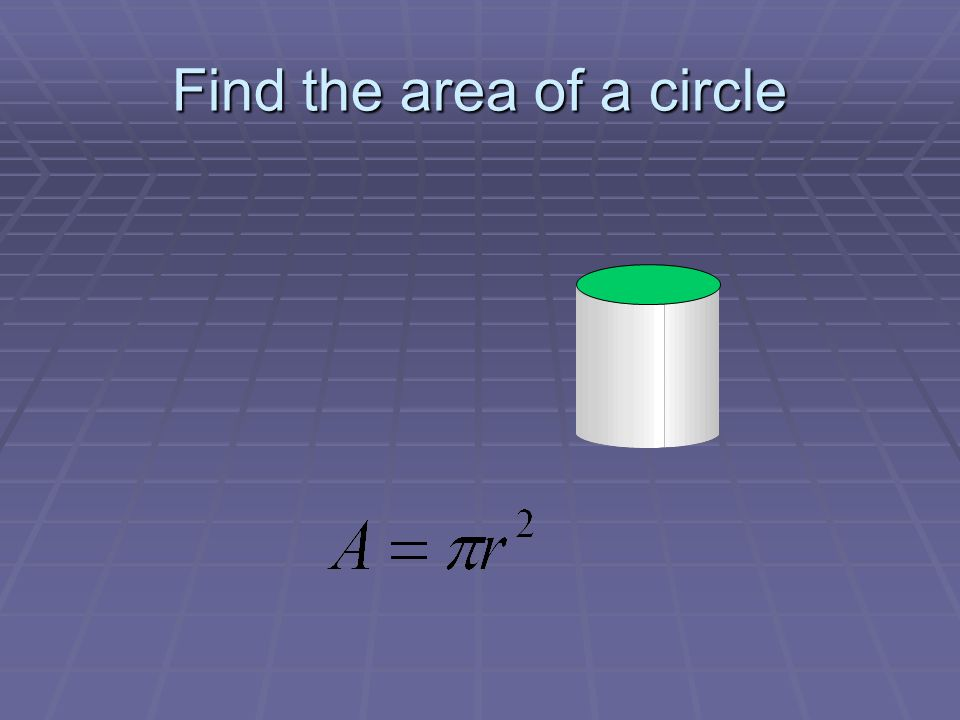 Find the area of a circle