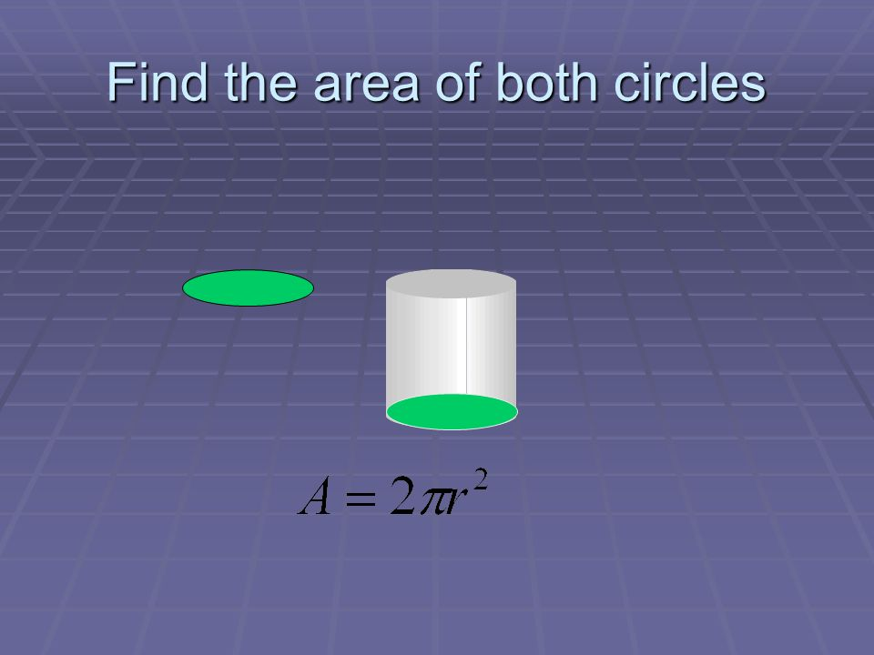 Find the area of both circles