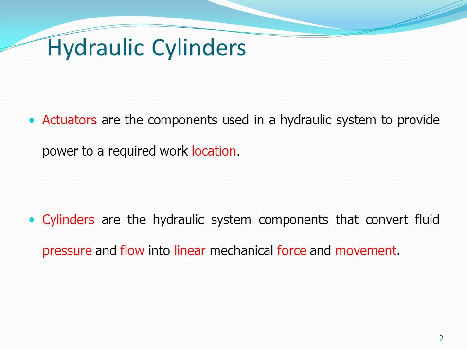 Hydraulic Cylinders Selecting a cylinder (Example) 33 Buckling resistance diagram: Reference: Festo Didactic Hydraulic