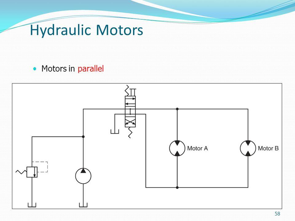 Hydraulic Motors Motors in parallel 58