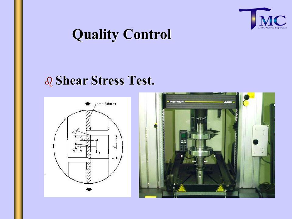 b Shear Stress Test. Quality Control