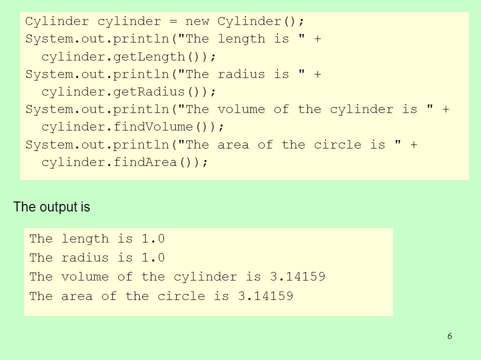 7 Using the Keyword super To call a superclass constructor To call a superclass method The keyword super refers to the superclass of the class in which super appears.