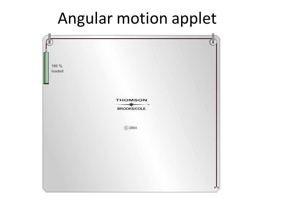 Angular motion applet