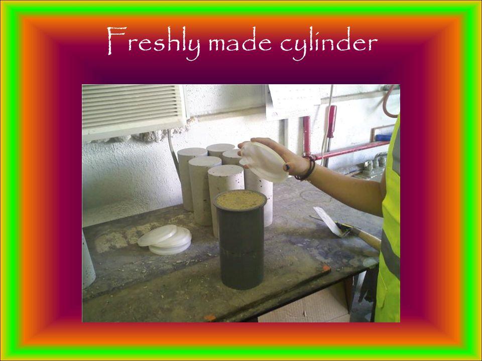 Freshly made cylinder