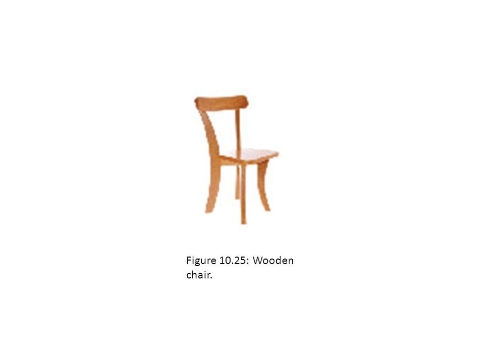 Figure 10.25: Wooden chair.