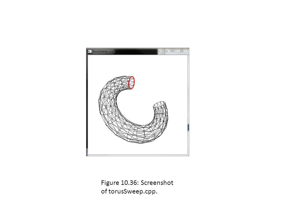 Figure 10.36: Screenshot of torusSweep.cpp.