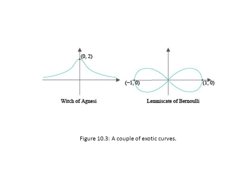 Figure 10.3: A couple of exotic curves.