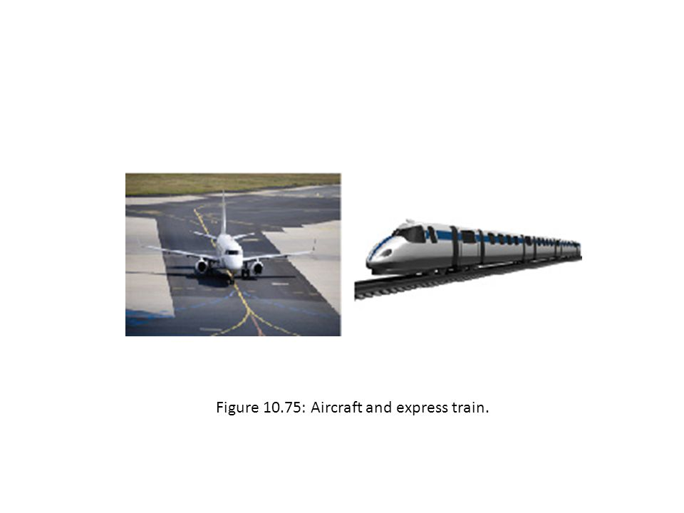Figure 10.75: Aircraft and express train.