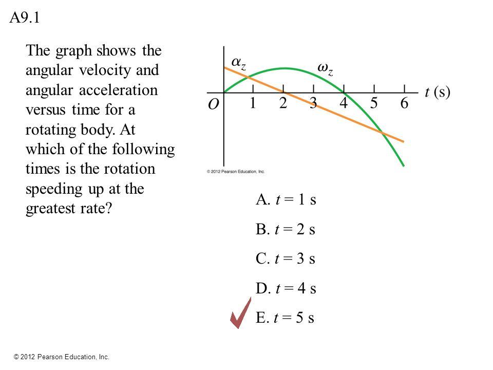 © 2012 Pearson Education, Inc.A. 0.40 rad B. 0.80 rad C.