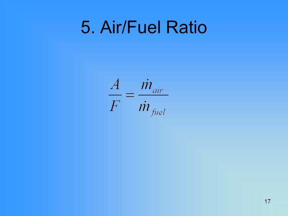 17 5. Air/Fuel Ratio