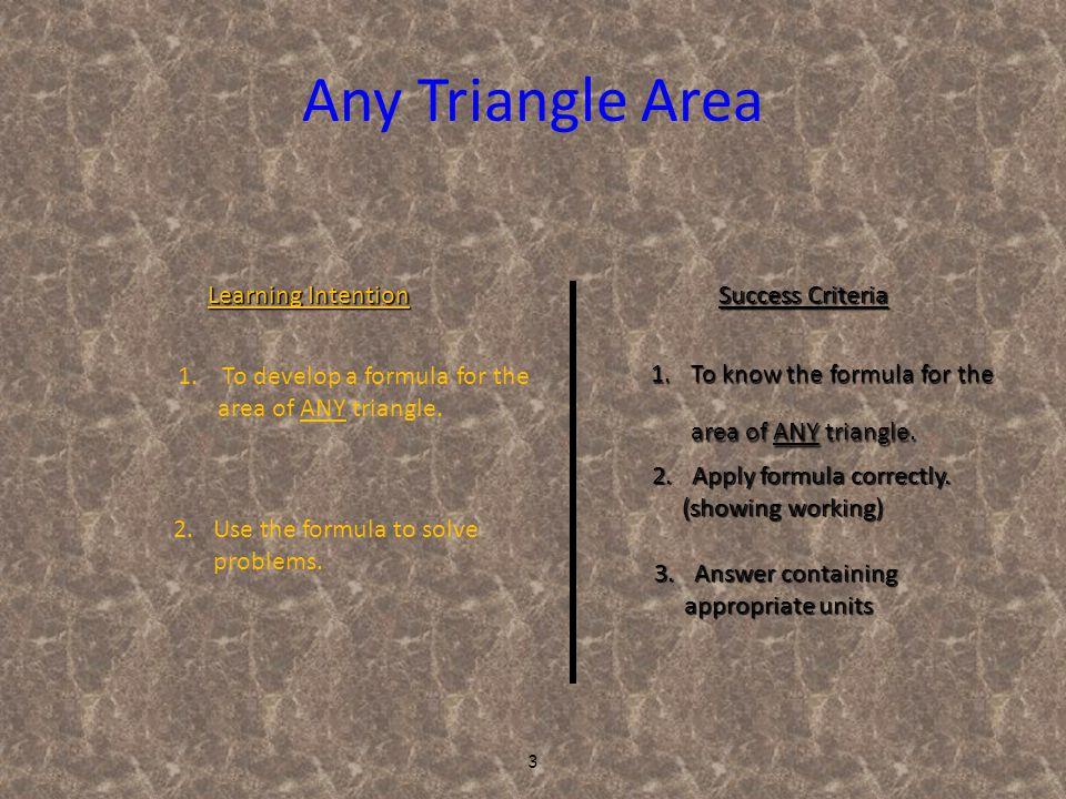 14 Trapezium Area Example 1 : Find the area of the trapezium. 6cm 4cm 5cm