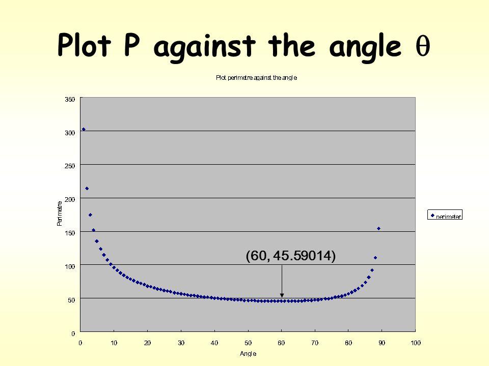 Isosceles triangle angle  in degree perimeter (p) 1302.7881 2214.1198 :: 6045.59014 ::