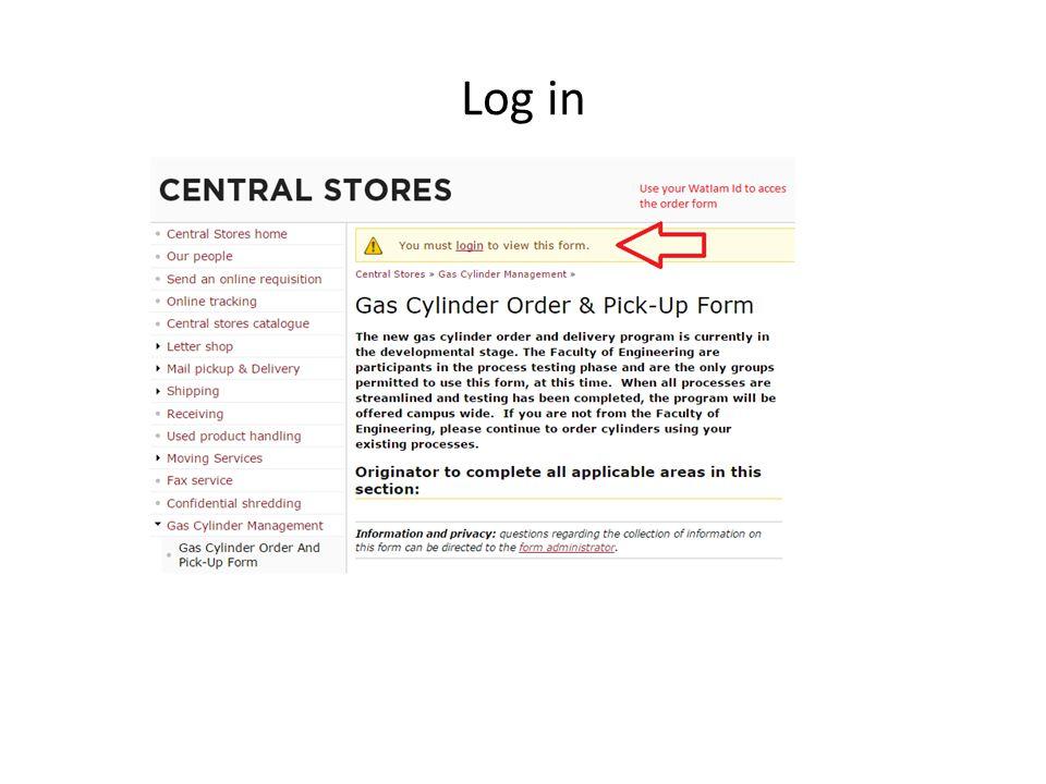 Enter your order information
