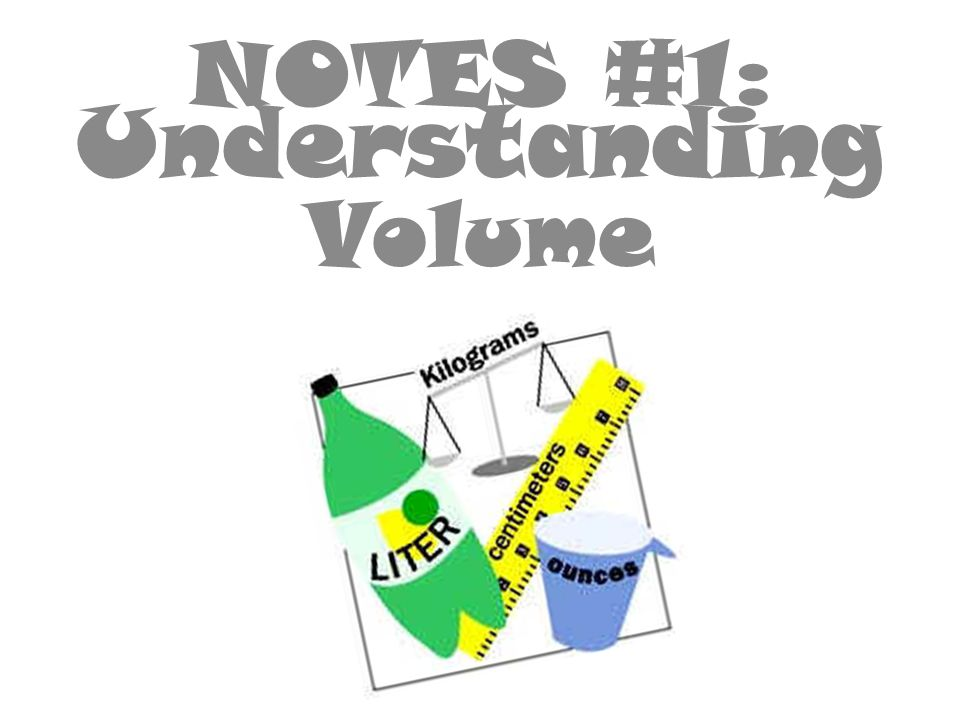 NOTES #1 : Understanding Volume