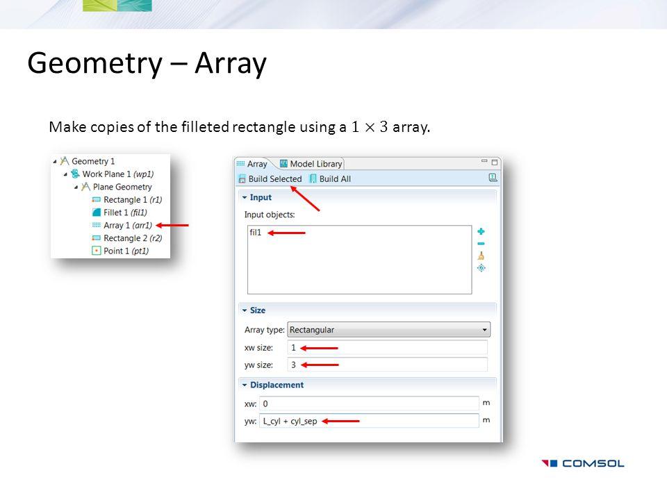Geometry – Array