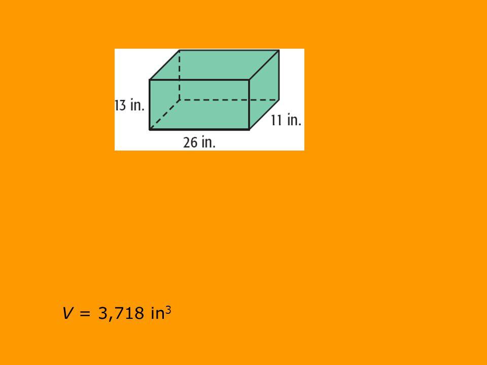 V = 3,718 in 3