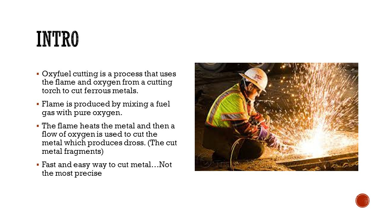  The cutting tip to be used depends on the base metal thickness and fuel gas being used.