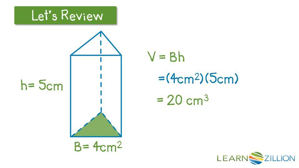 Let's Review r=3cm