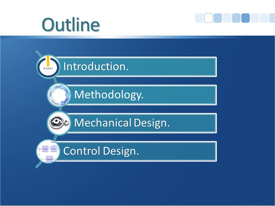 OutlineIntroduction. Methodology. Mechanical Design. Control Design.