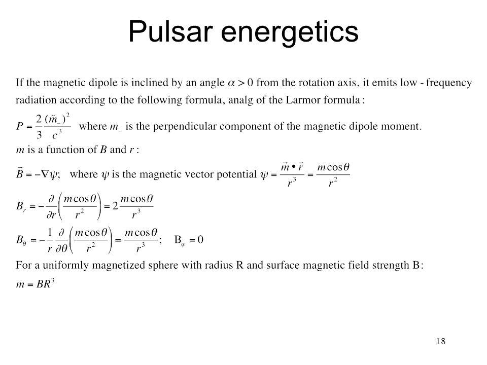 18 Pulsar energetics