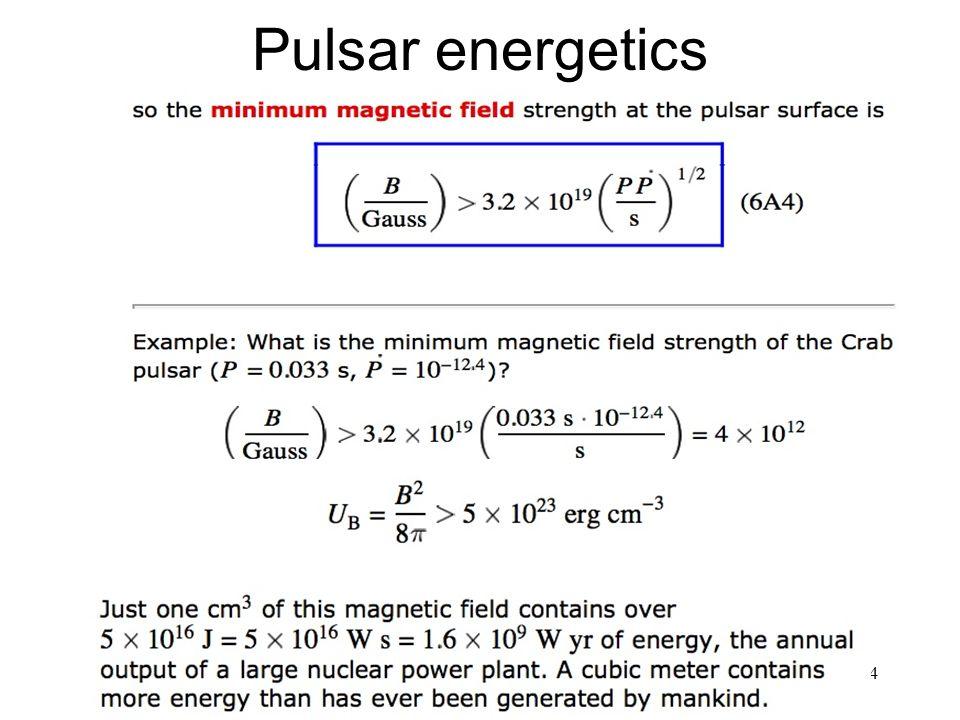 24 Pulsar energetics