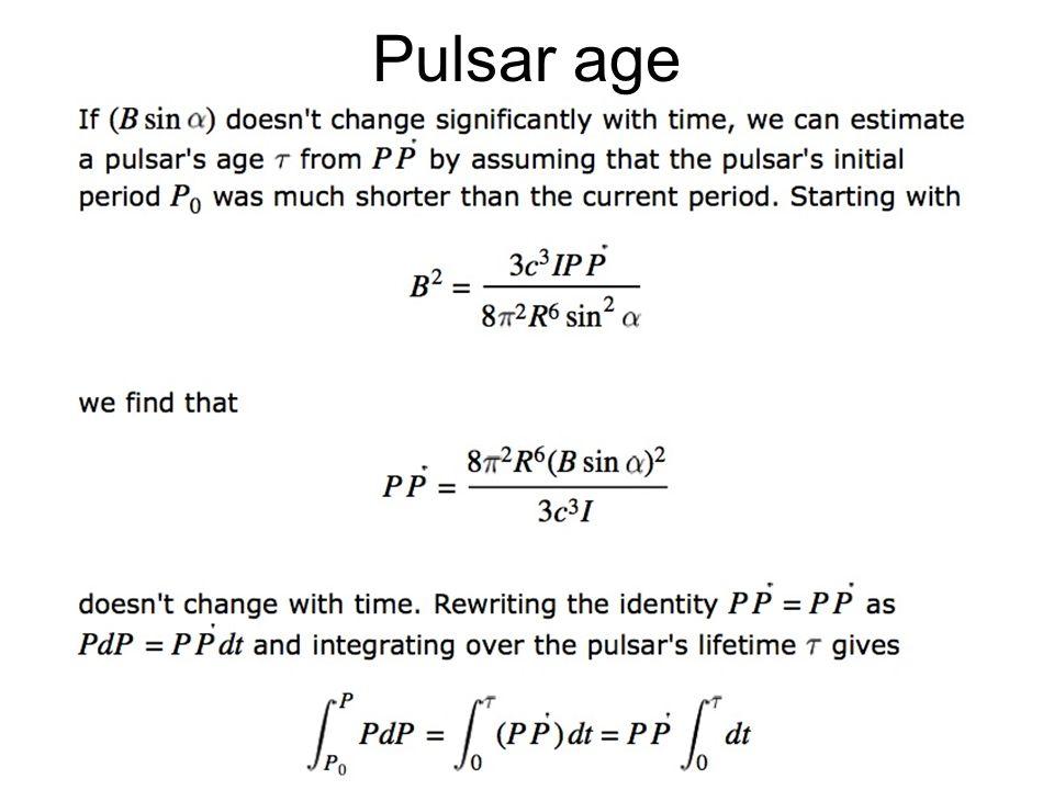 43 Pulsar age