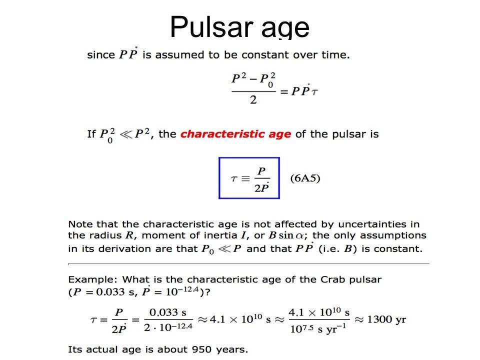 44 Pulsar age