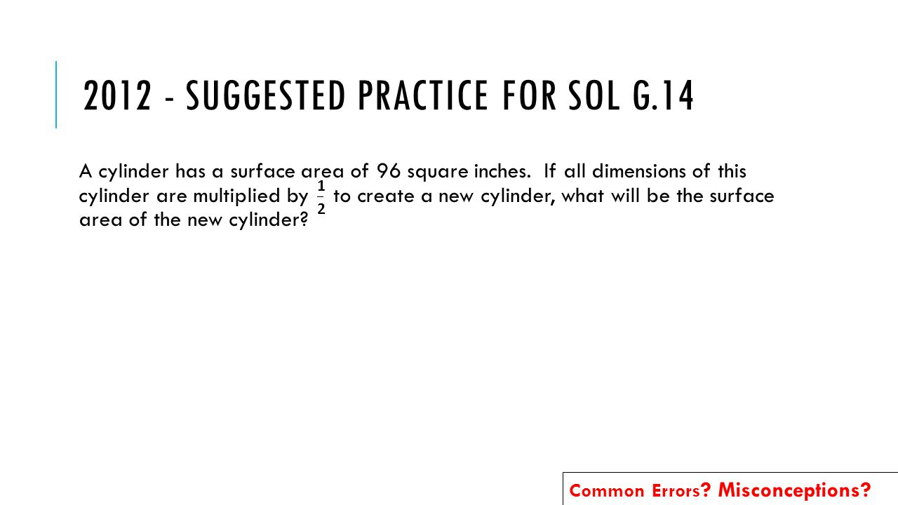 A cylinder has a surface area of 96 square inches.