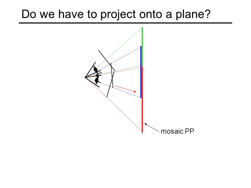 mosaic PP Do we have to project onto a plane