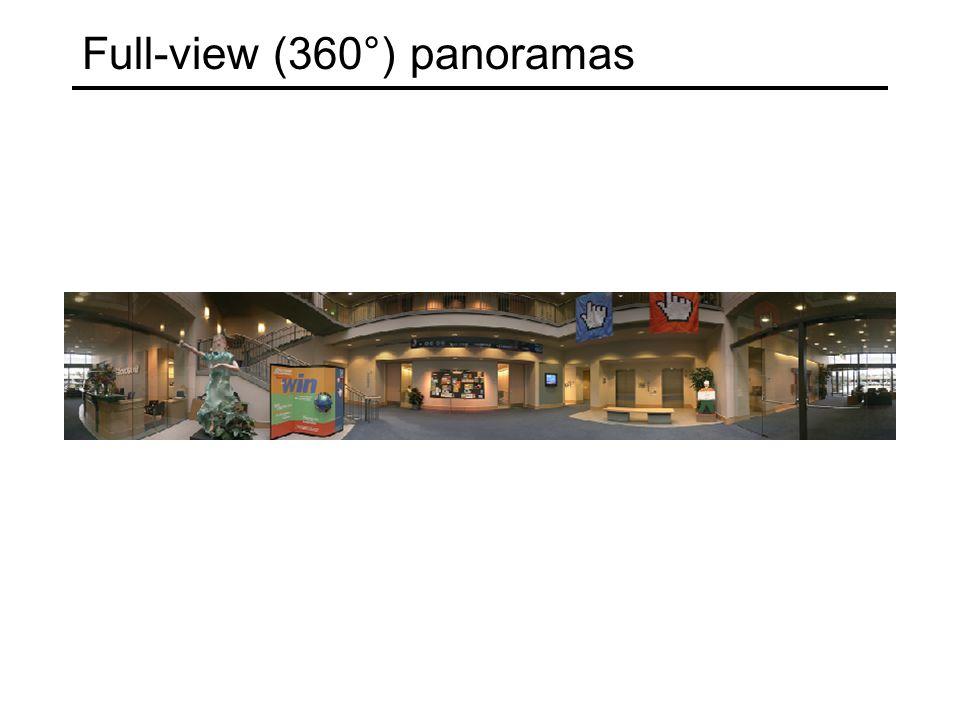 Full-view (360°) panoramas
