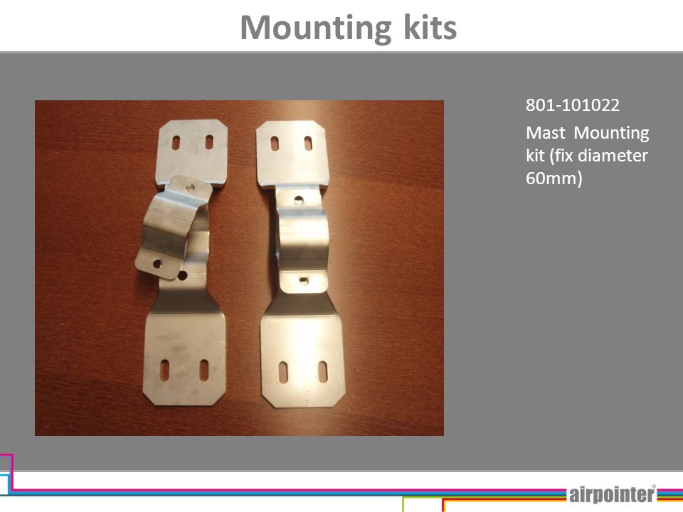 Mounting kits 801-101022 Mast Mounting kit (fix diameter 60mm)