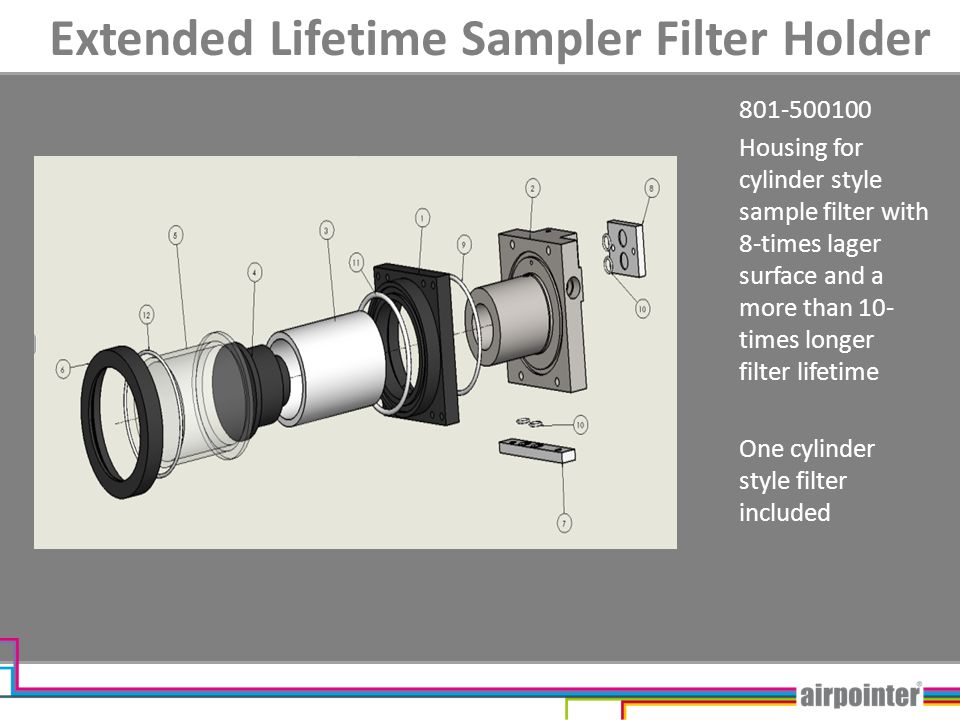 Extended Lifetime Sampler Filter Holder Further special options for this Filter type available - Option SamFilter Board - High Humidity Option