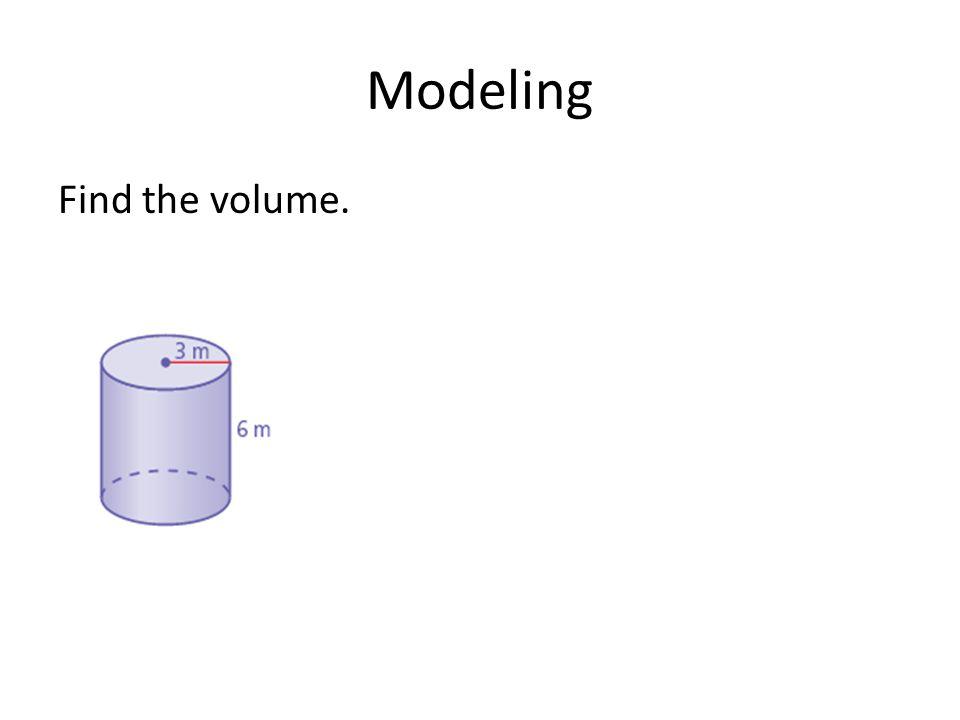 Modeling Find the volume.